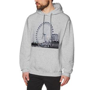 NOISYDESIGNS 2019 Imprimé hiver Hoodies Mode Hommes London Eye Casual Male Sweats à capuche garçons cool Tops Sudadera Hombre