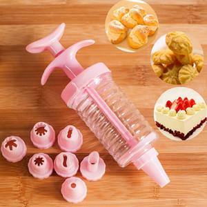 1 набор торт украшение Набор Пластиковые 8 торт Насадки Обледенение Шприц Mold торт украшение Piping крем Шприц Советы