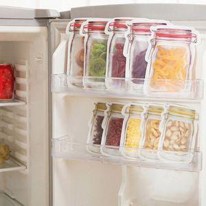Storage Bags 10Pc Preservation Fridge Freezing Fresh Kitchen Fruit Storage Reusable Jar Bag Produce Organizer #45