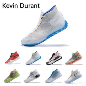 2019 Nouveau KD 12 Guerriers Maison Université Rouge Paranoïde Chaussures De Basket-ball Oreo Original Kevin Durant XII KD12 Hommes Baskets Baskets Taille 7-12