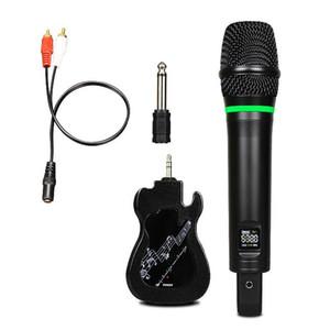 UHF Mestre Microfone sem fio Microfone Dinâmico de Mão Karaoke noites e festas em casa para se divertir Over the Mixer PA Speaker System