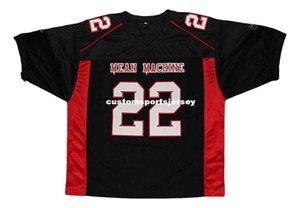 Scarborough por mayor # 22 Mean Machine Nueva Jersey de fútbol personalizada Negro cosido cualquier nombre número HOMBRES MUJERES JÓVENES fútbol del jersey