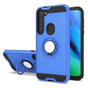 Wholesale mobile phone case for Moto G Power 2020 G8 plus G8 play one Macro with 360 rotating ring stand for Samsung A11 A21