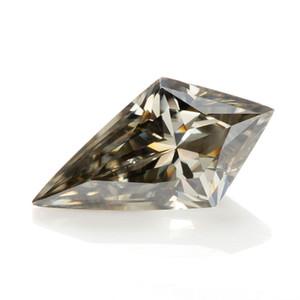 synthétiques moissanite pierres en vrac pour les bijoux usine Holycome exportation directe nouveau cerf-volant gris coupe coupe