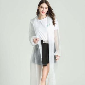 EVA Raincoat 22 Renkler Kadınlar Man Su geçirmez Yağmur Panço Temizle Şeffaf Kamp Hoodie Rainwear Suit LJJO7850