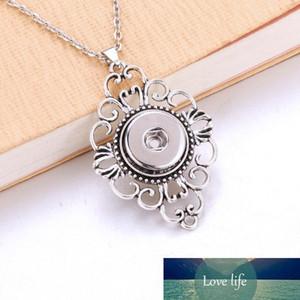 بوم لايف 18mm Snap Button Flower Pendant Charms Fashion Snaps Button Diy Jeweler Gift For Women 6830