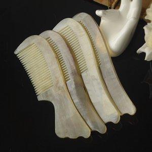 1PC 15cm espina de pescado de la manija del cuerno peine antiestático rentable G0425 Peine