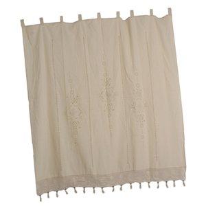 País de encaje de ganchillo cortina de la ventana Blackout Coloque la pestaña del panel superior