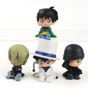 4cm - giocattoli figura di Conan Edogawa Case Closed Konan Conan Edogawa Kaitou Kidd Furuya Rei Akai Shuuichi Azione 5 centimetri Detective