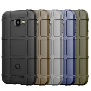 Grid Shock Control Armor Phone Case For Samsung J4 Prime J4 Plus J4 Heavy Duty Army Style Silicone Case