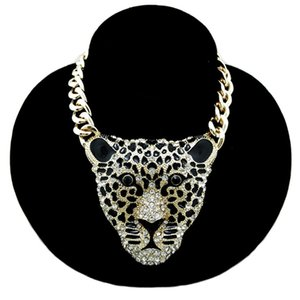 Rave party Accessori Animal collane d'oro catena collana ciondolo testa YDYDBZ Big leopardo di Hip Hop di stile punk dei monili all'ingrosso