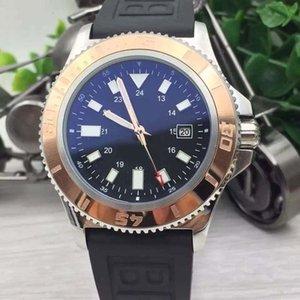 Top-Qualität Superocean 42 Automatik Außen Chronomat Colt Gold-Lünette Aerospacel Zifferblatt schwarz Mann Armbanduhr Hurricane Herrenuhr