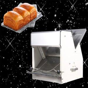 2020 automatique électrique 31 tranches de pain carré Slicer machine en acier inoxydable Petit Pain Cuites trancheuse Toast Machine à découper