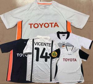 Retro classic 2000 2001, 2003, 2006, 2007, 2010 Valencia soccer jersey VICENTE ANGULO MENDIETA DAVID VILLA AIMAR football Sportall shirt