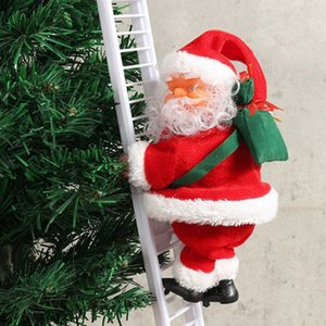 Christmas Pendant Ladder Christmas Santa Claus Doll Tree Drop Ornaments Home Xmas Tree Hanging Decoration New Year Decorations
