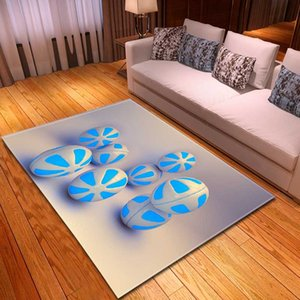 Nordic Fashion Parlor Sofa Area Rug Kids Room Bedside Play Mat Bedroom Corridor Rug 3D Printed Balls Living Room Carpet
