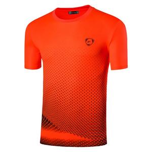 jeansian Männer Sport-T-Shirt T-Shirt T-Shirts Tops Laufen Gym Fitness Workout Short Sleeve Dry Fit LSL225 Orange2