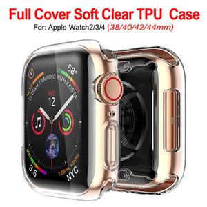 Ultra Slim transparent clair souple TPU caoutchouc Housse de protection en silicone pour Apple Suivre série 4 3 2 1 40mm 44mm 38mm 42mm
