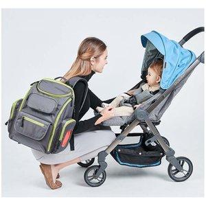 Sac mère en nylon imperméable épaule grande capacité multi-fonction d'attente de sac maman pour sortir de la poussette de bébé dorsal