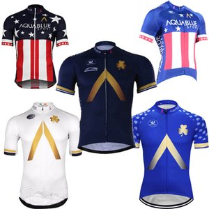 Aqua Blue team custom made Cycling Short Sleeves jersey men quick dry short sleeve breathable summer outdoor sports jersey shirt S992