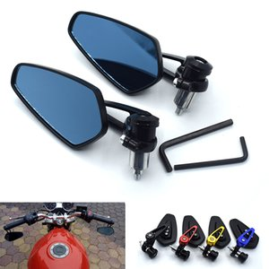 """Universal motorcycle aluminum alloy 7 8"""" 22mm rod end side rearview mirror for Kawasaki ZZR600 ZX6R ZX636R ZX6RR ZX9R ZX10R Z100"""