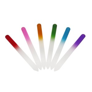 Цветные стеклянные пилочки для ногтей Прочный хрустальный пилочка для ногтей Буфер NailCare Nail Art Инструмент для маникюра УФ-лак для инструментов 500шт 0603022