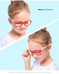 New fashion children's anti-blue light glasses men and women flat mirror silicone goggles soft frame F8140 5pcs