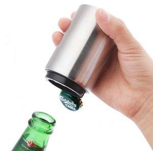 Bouteille automatique bière ouvre avec Cap en acier inoxydable magnétique Cap Catcher Push Down Pop Top Bottle Cap Collector cadeau SN667