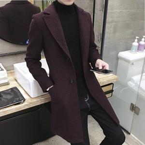 Men design Coats Casual Long Top Mens Thick Wool Trench Fashion Warm Coat Lapel Spring Autumn Overcoat Plus Size 5XL Long Coat 3 orders
