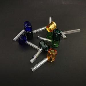 классические стеклянная карманная труба молотка формы курительной трубка 3,26 дюйма мини Galss труба прямая труба в ассортименте оптом