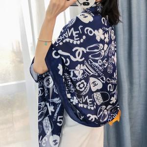 Novo design 2020 seda verão senhoras e mulheres cachecol lenço de seda de moda jóias véu cachecol xale