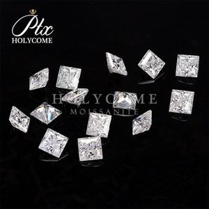 высокого качества оптовой VVS ясности супер белая принцесса вырезать 4x4mm потерять синтетический алмаз муассанитом камень ювелирные изделия