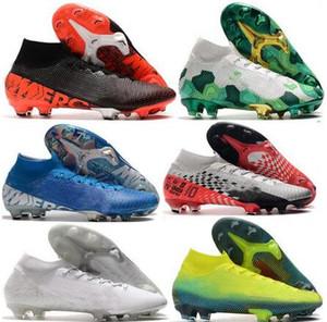 2020 Mens Superfly cıva VII 7 360 Elite SE FG Boys Kadın cr7 Ronaldo Neymar MDS 001 002 futbol ayakkabıları Futbol Boots kelepçeleri Boyut 39-45