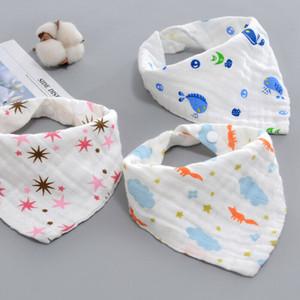 cartoon soft cotton newborn Baby bibs infant Feeding kids Bandana Saliva Triangle Dribble