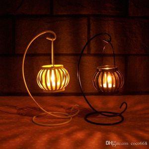 estilo retro de la palmatoria de calabaza arte europeo de la palmatoria del hierro creativo regalo de boda romántica decoración nuevo estilo nuevo