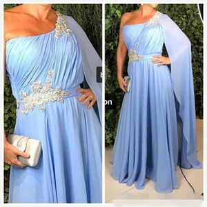 Elegant one shoulder Sheath Mother of the Bride Dress Lace Formal Gowns New Floor Length Custom Size Handmade Appliques Transparent Stunning