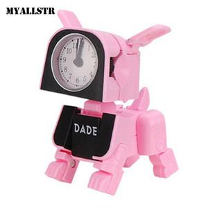 휴대용 귀여운 전자 알람 시계 어린이 변형 된 포인터, 버튼 홈으로 3 년 된 장난감