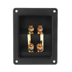 Consumer Electronics 2020 New Terminal Cup Connector 266 Parts Express Binding Posts Gold Banana Jacks Recessed Bi-Amp Speaker Box Black