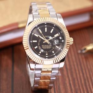 새로운 남성 시계 relogio masculino 44mm 군사 스포츠 스타일의 큰 남성은 고유 스틸 스트립 남성 시계를 2020 고급 패션 다이얼 시계
