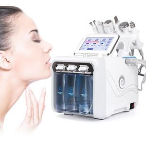 inhalación de hidrógeno máquina de oxígeno cuidado de la piel 6 en la máquina 1 belleza 6 en 1 La nueva tecnología de la belleza cáscara de chorro de oxígeno de agua H2O2 hydra