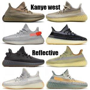 Nouveau réfléchissant Kanye chaussures de course ouest Abez Cinder Lin Yeshaya Noir chaussures de basket-ball de la Terre statique Asriel Israfil baskets Hommes Femmes