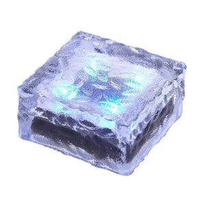 4x4 Güneş Parke taşı Tuğla Işıklar Buzlu Peyzaj Yolu Lambası Güneş Yeraltı Işıklar Cam Ice Cube Su geçirmez Işıklar
