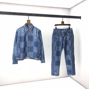 20 early autumn new old flower logo denim suit details in place high quality Yards: smlxlxxxl code