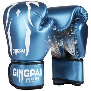 2019 heiße Verkaufs-6 8 10 12 OZ Erwachsene Kinder Frauen / Männer Boxhandschuhe PU-Leder MMA Muay Thai Boxe De Luva Mitts Sanda GYM Equipments Y191202