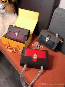 New Classic catena vecchio vitello donna del design borsa piega borsa vari colori fibbia in metallo con scatola