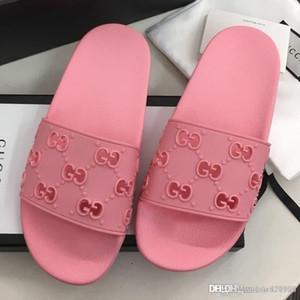 Novas mulheres de borracha de slides sandália chinelos de mulheres moda casual de qualidade superior sandálias tamanho 35-42 com caixa