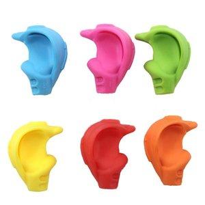 Caucho de silicona Crossover lápiz Grip Pen Holder escritura garra para niños de los niños correcta Aprende Formación escritura 6color elegir LX1630