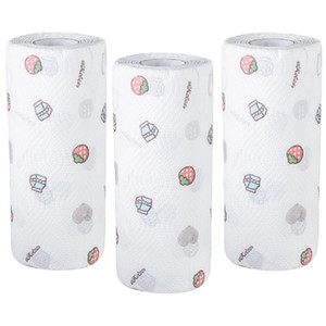 Reusable Kitchen Paper Towels Durable Kitchen Roll Multi-uses Disposable Towel for Kitchen Cleaning (3 Roll)