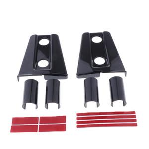 2 pièces noires du capot moteur Cache de la charnière pour Jeep Wrangler Accessoires
