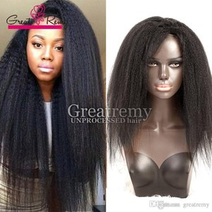 Glueless full lace wigs Malaysian Kinky Straight human hair lace wig density 130% To 150% wigs for black women lasting long time